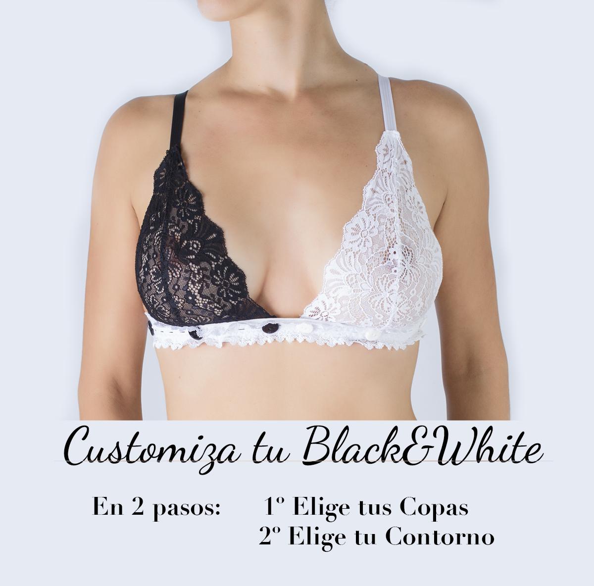 bralette negro y blanco la lencería perfecta para combinar